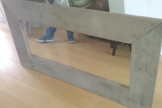 Steigerhouten spiegellijst (gebruikt)