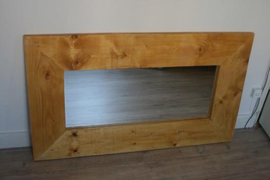 Steigerhouten spiegellijst (nieuw)
